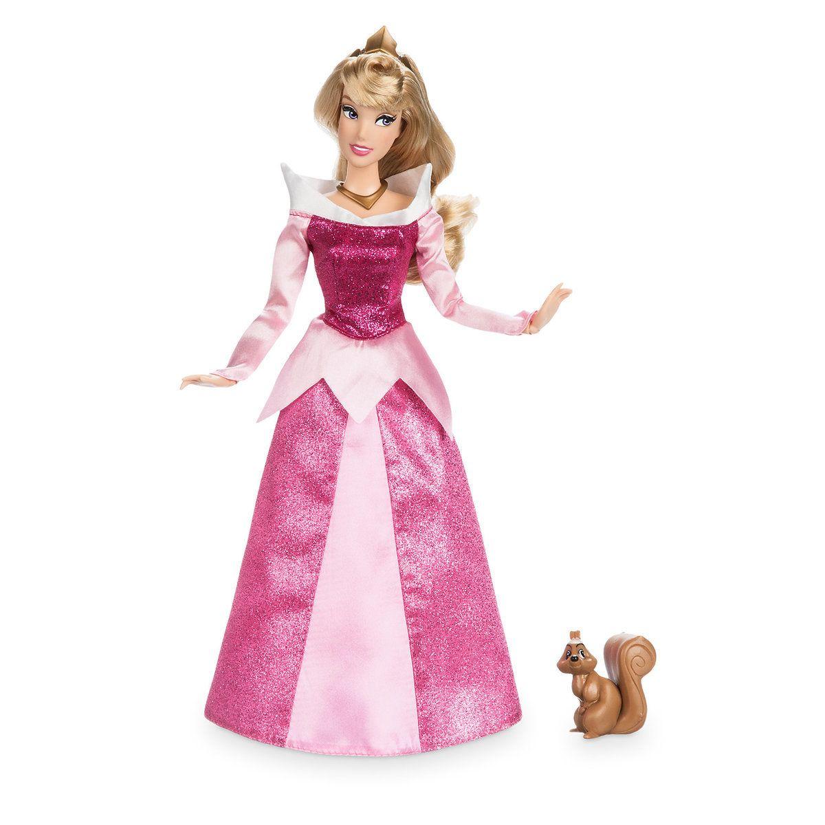 Disney Sleeping Beauty Aurora Doll With Squirrel Figure New in Box