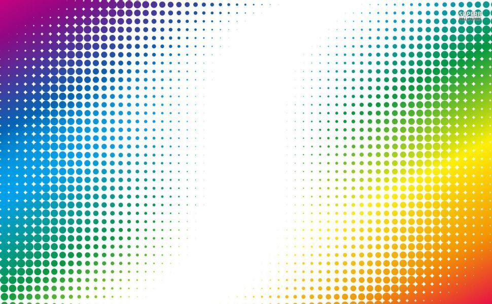 Colorful Halftone Dots Hd Wallpaper