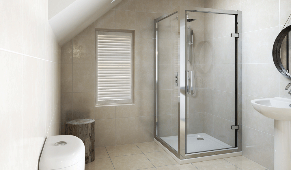 V10111141AB 6 Series Framed Hinged Shower Enclosure 900 X 700mm ...