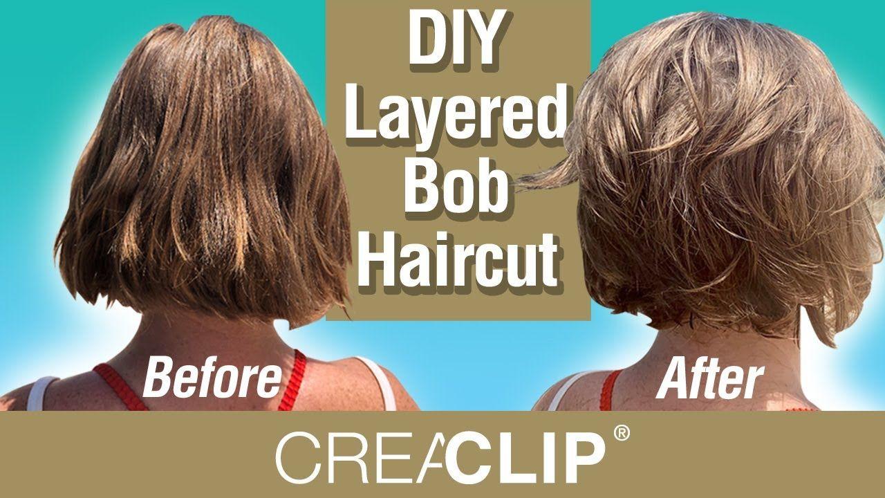 Diy Layered Bob Haircut Live On Beach Youtube Diy Haircut Layers Layered Bob Haircuts Shaggy Bob Haircut