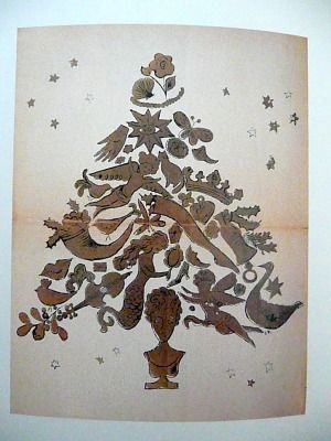 Christmas Tree by Andy Warhol 1958