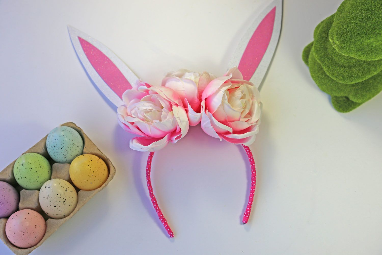 Diy Easter Bunny Ears Headband Craft My Occasion Chapus E