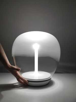 Lampe de table Empatia LED ˜ 36 cm ˜ 36 cm Transparent & blanc