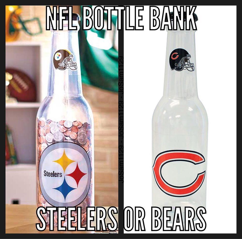 Oversized NFL Bottle Bank CHICAGO BEARS BANK, PITTSBURGH