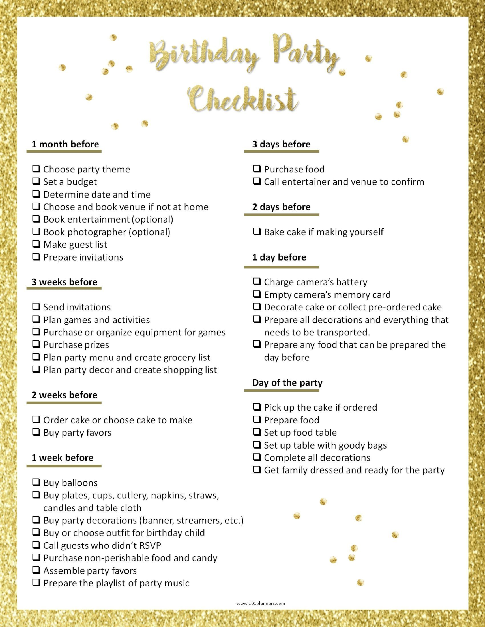Party Planning Template Birthday Party Planning Checklist Party Planning Checklist Birthday Party Planner