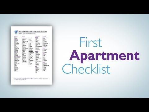 Because I have no idea what I\'m doing: First Apartment Checklist - A ...
