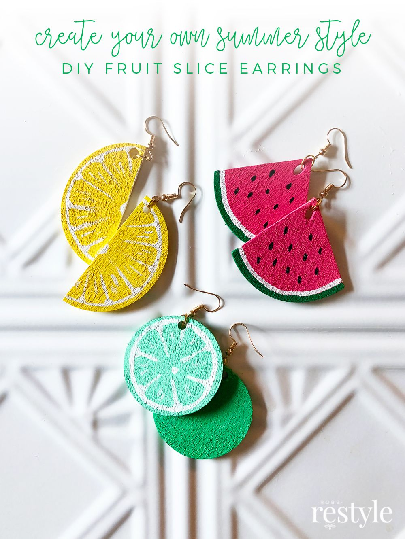 How To Make Fruit Slice Earrings Kids Earrings Fun Earrings