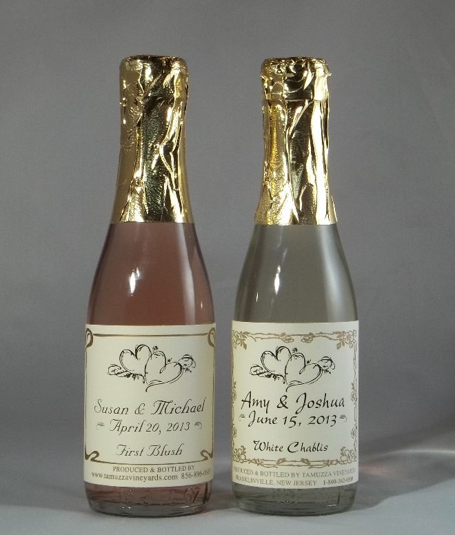 I Found These Great Personalized Mini Bottles Of Wine And Champagne