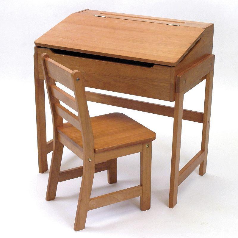 Lipper Children S Slanted Desk Chair Set In 2020 Desk And Chair Set Kid Desk Toddler Desk