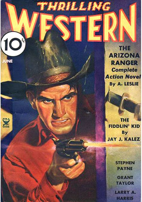 Thrilling Western magazine covers http://kentuckymonamour.blogspot.it/2015/02/thrilling-western-magazine-covers.html #cover #covers #coverart #art #illustration #pulp #western #farwest #magazine