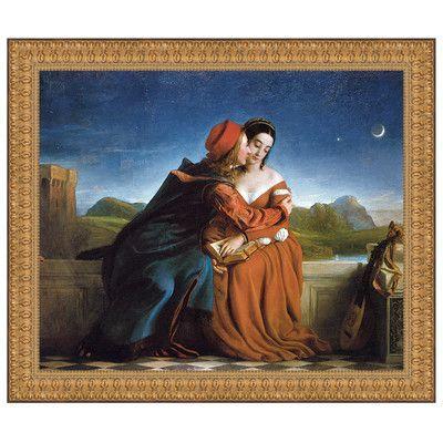 Design Toscano Francesca Da Rimini, 1837 by William Dyce Framed Painting Print Size: Medium