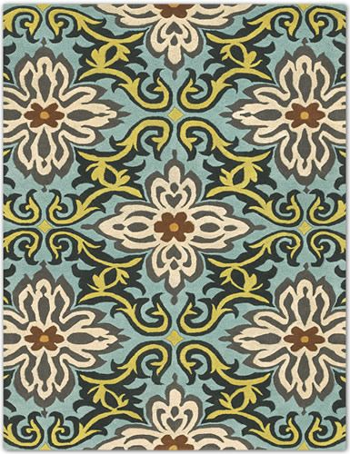 Multi-Colored Damask Rug By Amy Butler