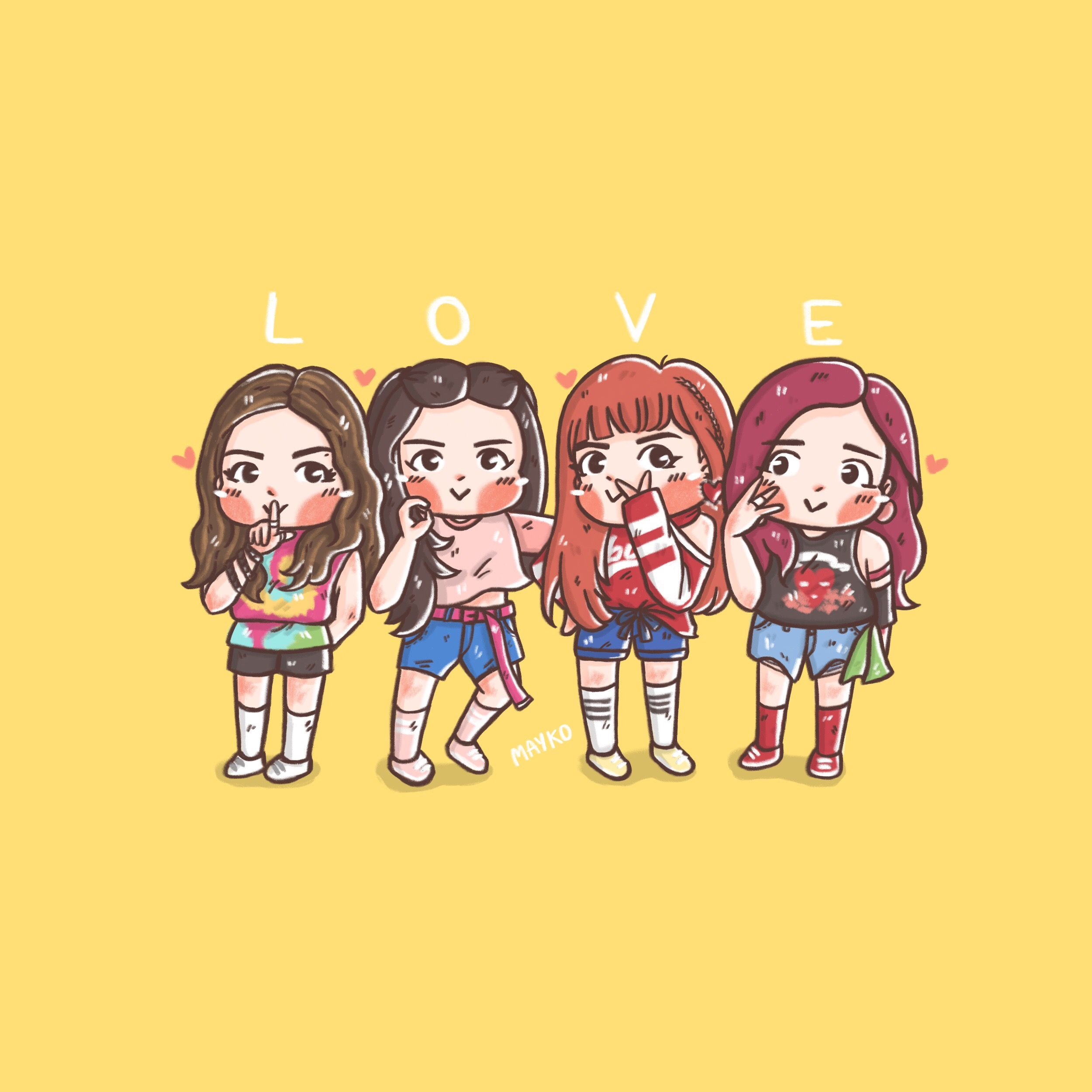 Image result for cute blackpink cartoons in 2019