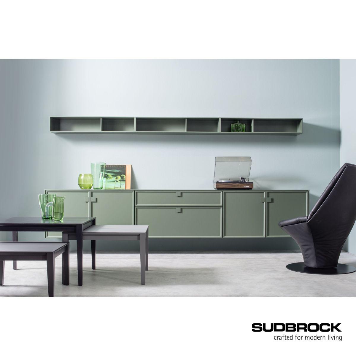 Wohnzimmer grün Inneneinrichtung dunkelgrün Möbel