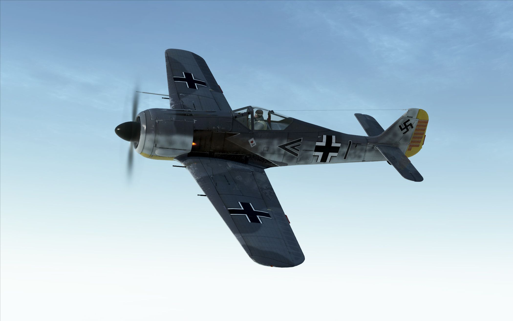 """Fw-190A2 Stab 3 JG/26 flown by Hauptmann Josef """"Pips"""" Priller in Wevelghem Belgium June 1942. This version has the large black marking on the side of the front of the fuselage this is probably not accurate hence I did two versions of this Fw-190A2."""