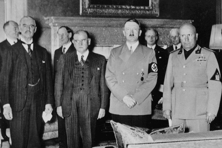 Munich Conference Group Photo September 1938 Chamberlain Daladier