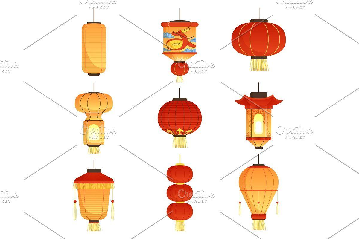 Chinese Lantern Silhouetes Japanes In 2020 Chinese Festival Chinese Lanterns Paper Lanterns Wedding