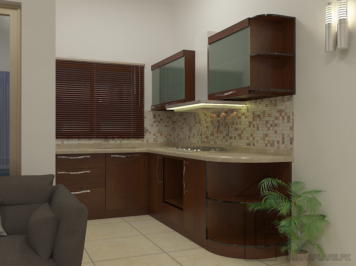 This is a Simple Pakistani kitchen designs picture. You