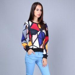 Sweatshirt mit Pop-Art-Muster