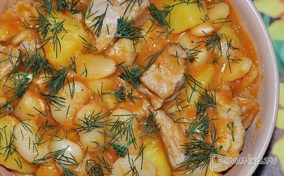Свинина, тушенная с фасолью и картофелем – пошаговый ...
