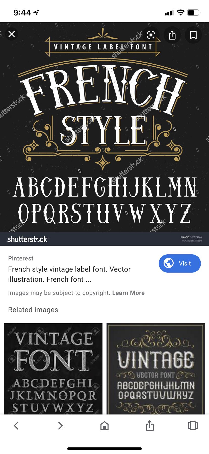Pin By Bonnie Bjorem On French Script Fonts Frames Vintage Labels French Font French Script Fonts