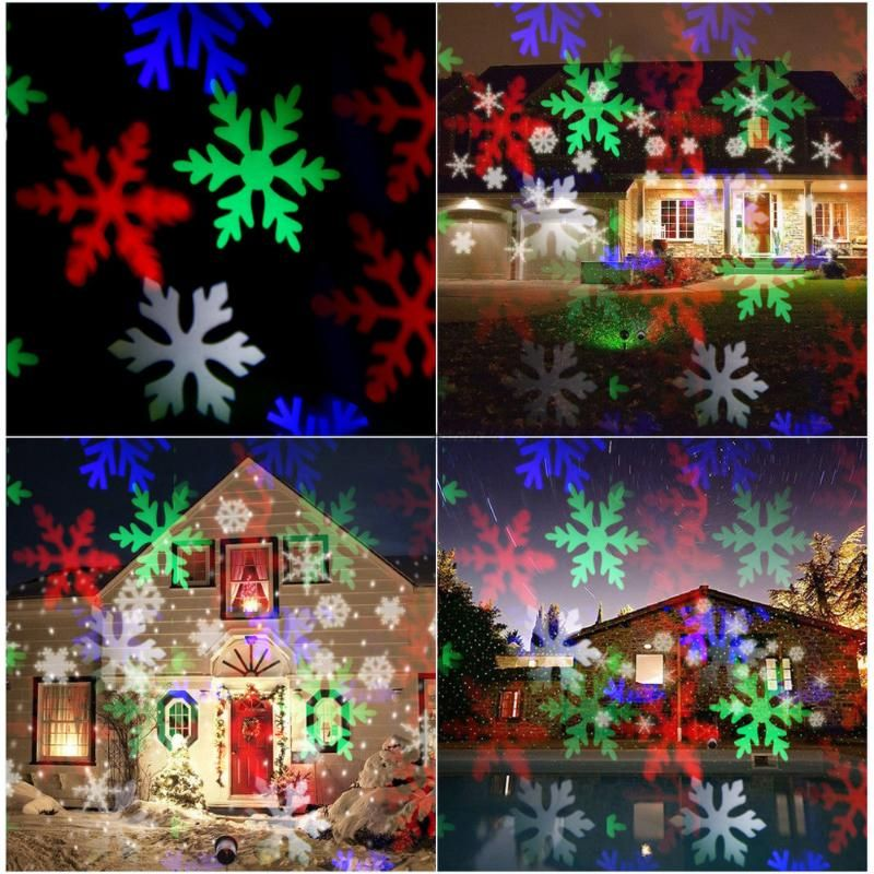 christmas laser projector Activated Moving Dynamic Snowflake Film