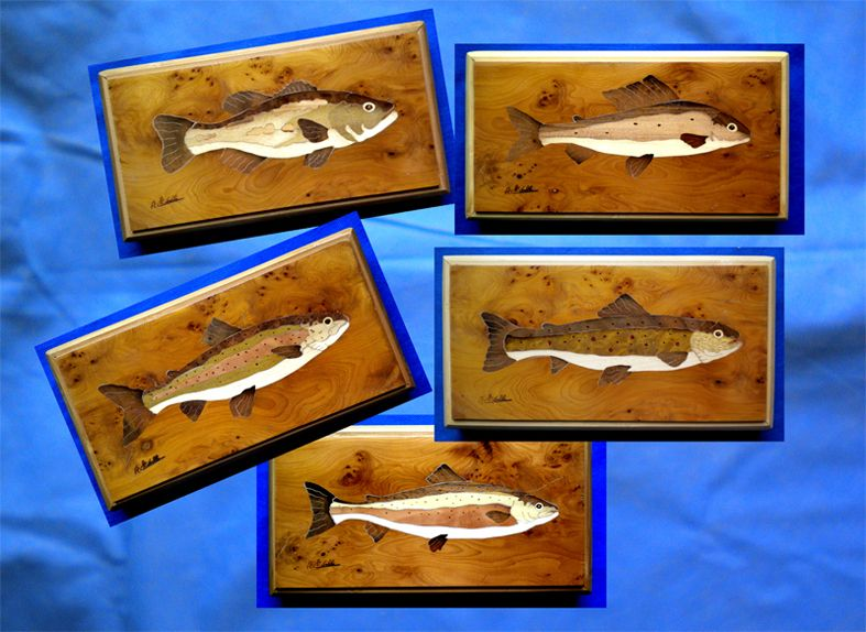 stremmer fish boxes with inlaid