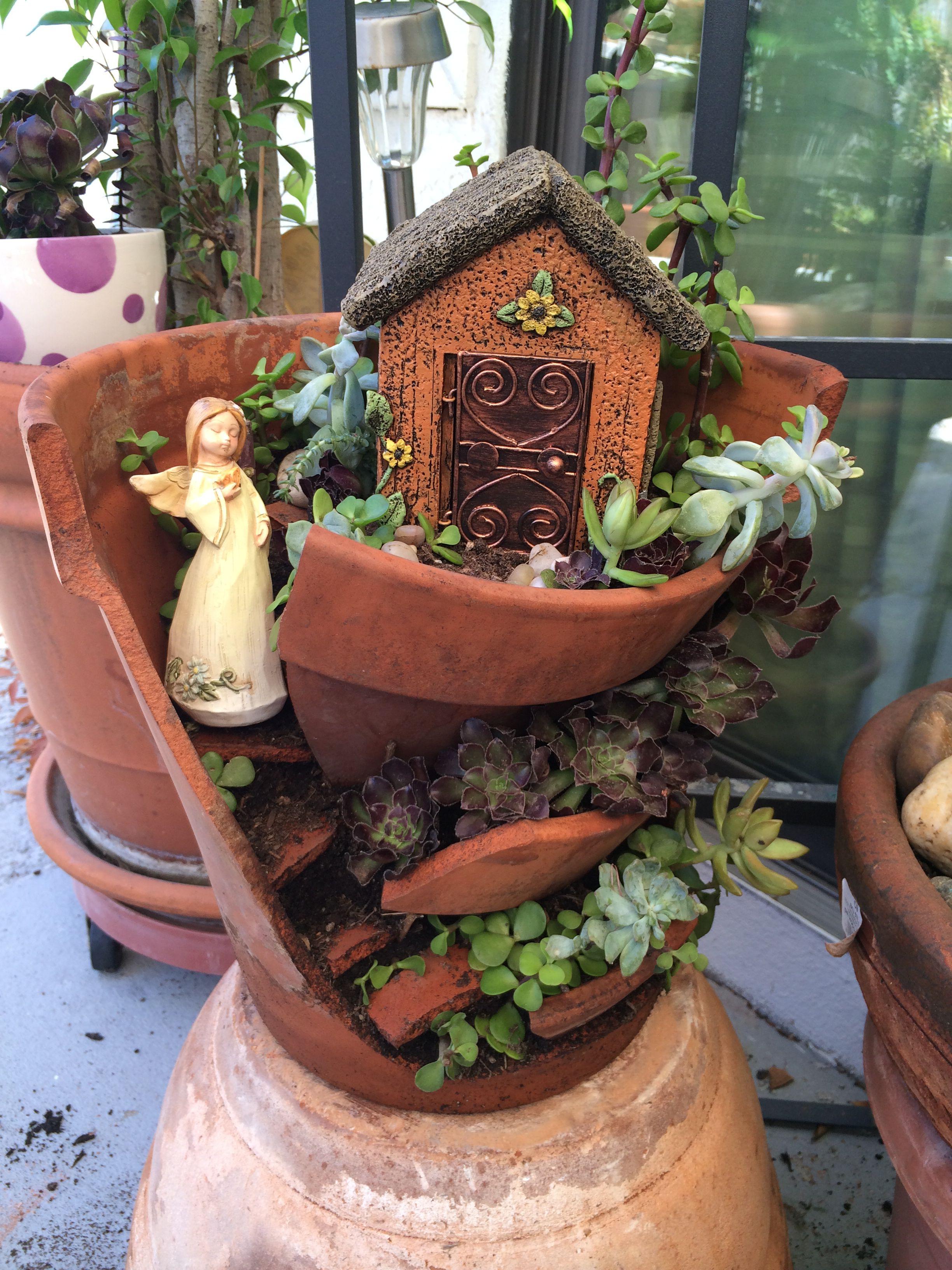 Fairy copper house macetas in pinterest garden