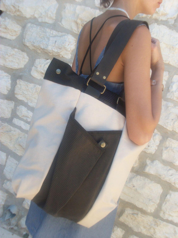 Canvas Shoulderbag   School   Work   Laptop bag   Extra Large   Tote bag    Black and White   Women   Minimalist.  45.00, via Etsy. c6e103e221