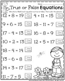 May First Grade Worksheets for Spring