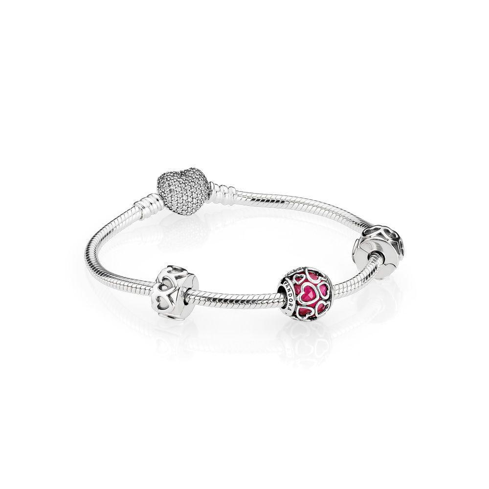 Open Hearts Bracelet Gift Set Pandora Jewelry Us