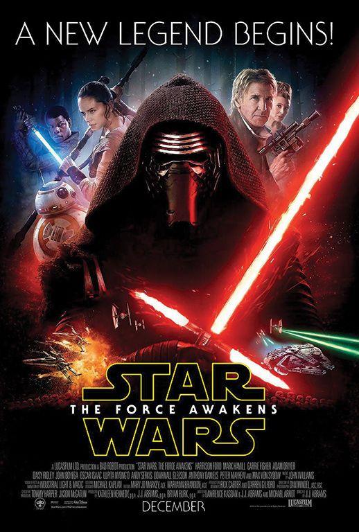 Star Wars The Force Awakens Movie Poster V16 24 x 36 #Handmade #PopArt