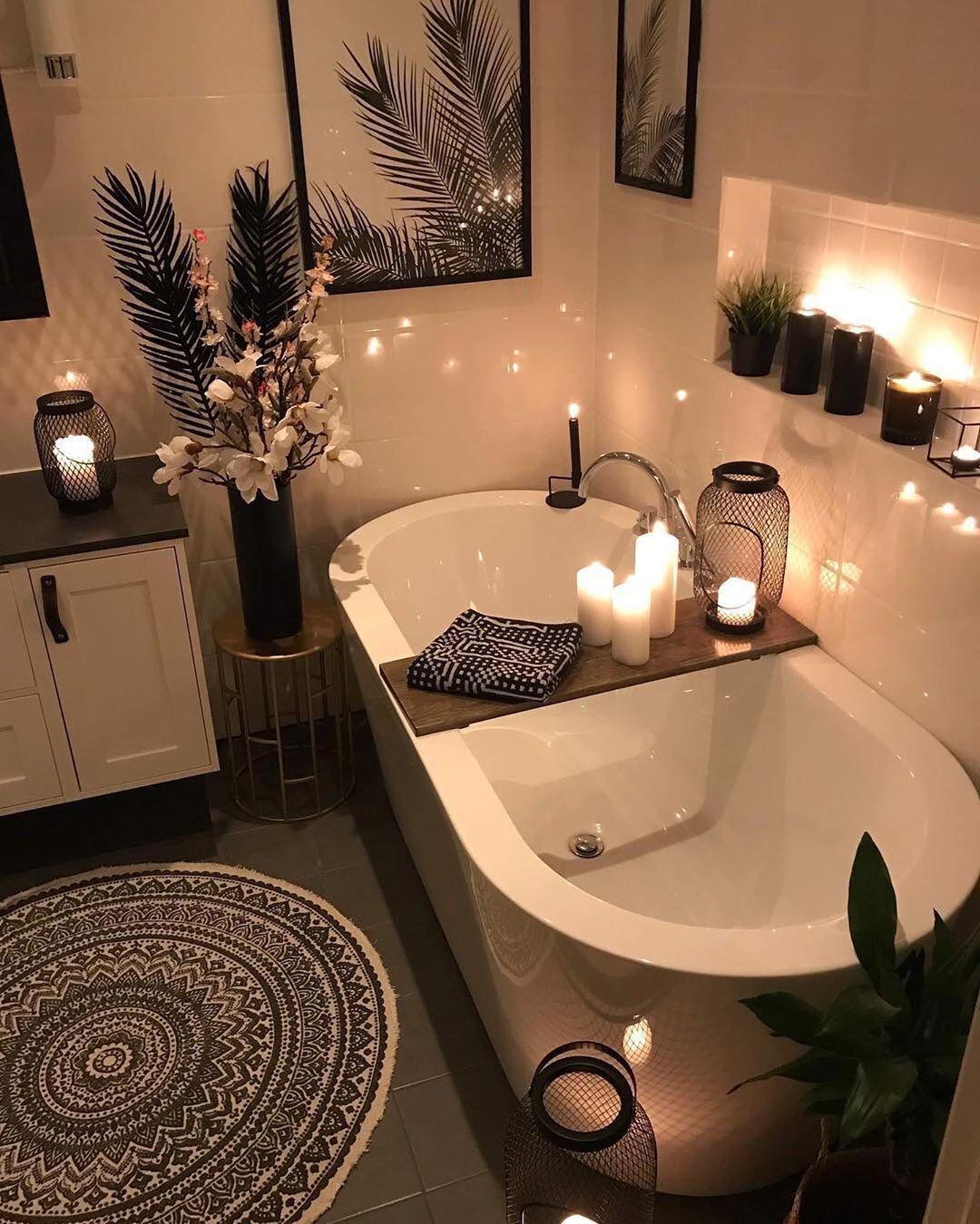 Fagerhoi Hjemmet ديكور ديكورات مطبخ مطابخ مجلس صالون صاله صوره صورة فن ابداع مودرن Cozy Bathroom Bathtub Design Bathroom Interior Design