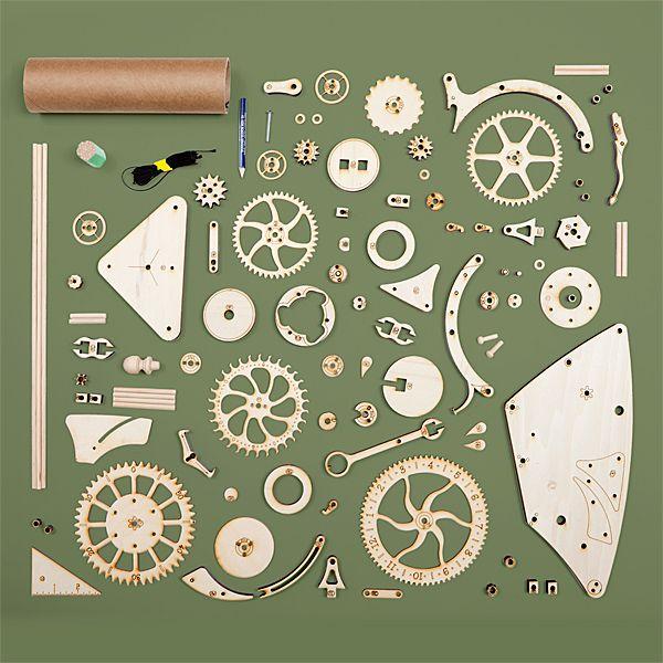 Wooden Mechanical Clock Kit Cool Gadgets Horloge Bois
