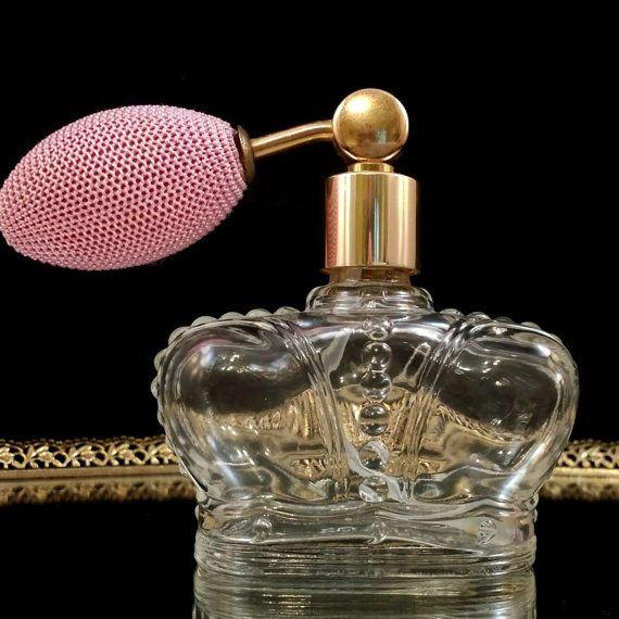 Prince Matchabelli Atomizer Bottle Perfume Decanter Perfume Atomizer Crown Bottles Collectible Perfume Bottles Windsong