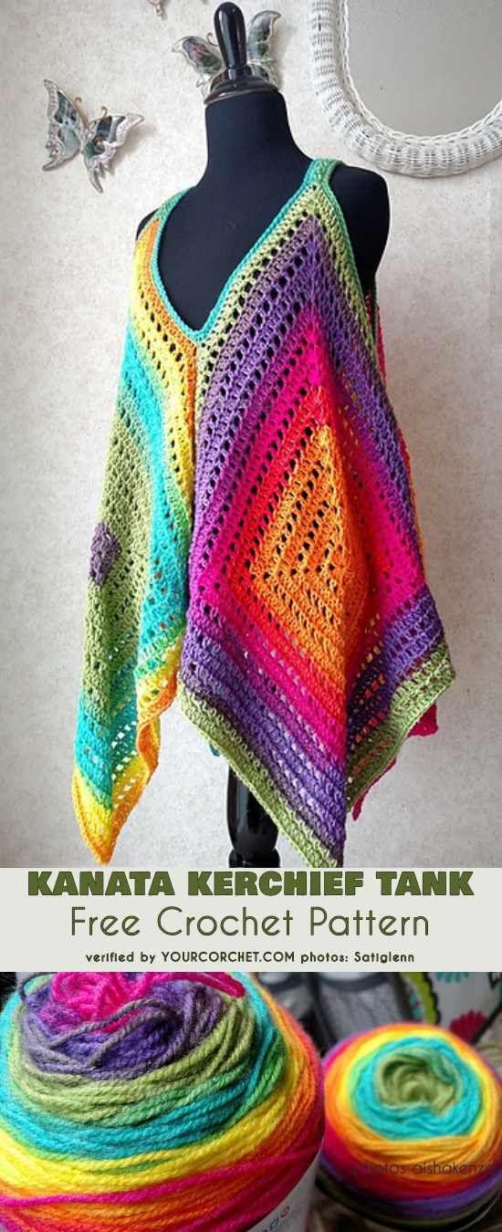 Easy] Kanata Sleeveless Top - Free Crochet Pattern