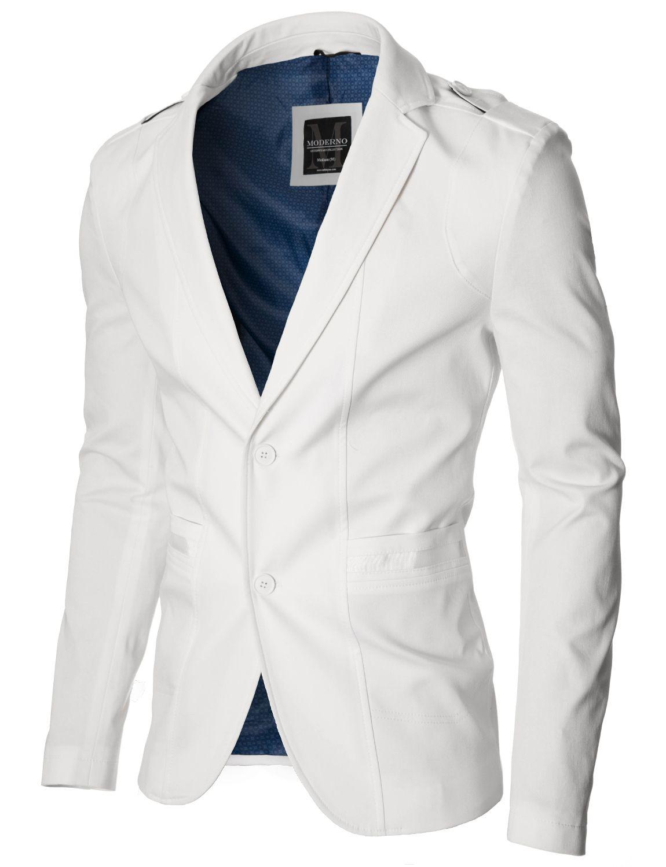 MODERNO Men's Casual 100% Cotton Blazer