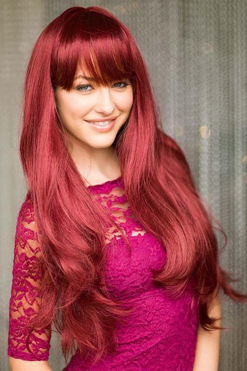 Photo of Long red wig, gently layered: Nina