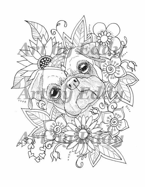 #pugdrawing | Pug tattoo, Art, Coloring pages