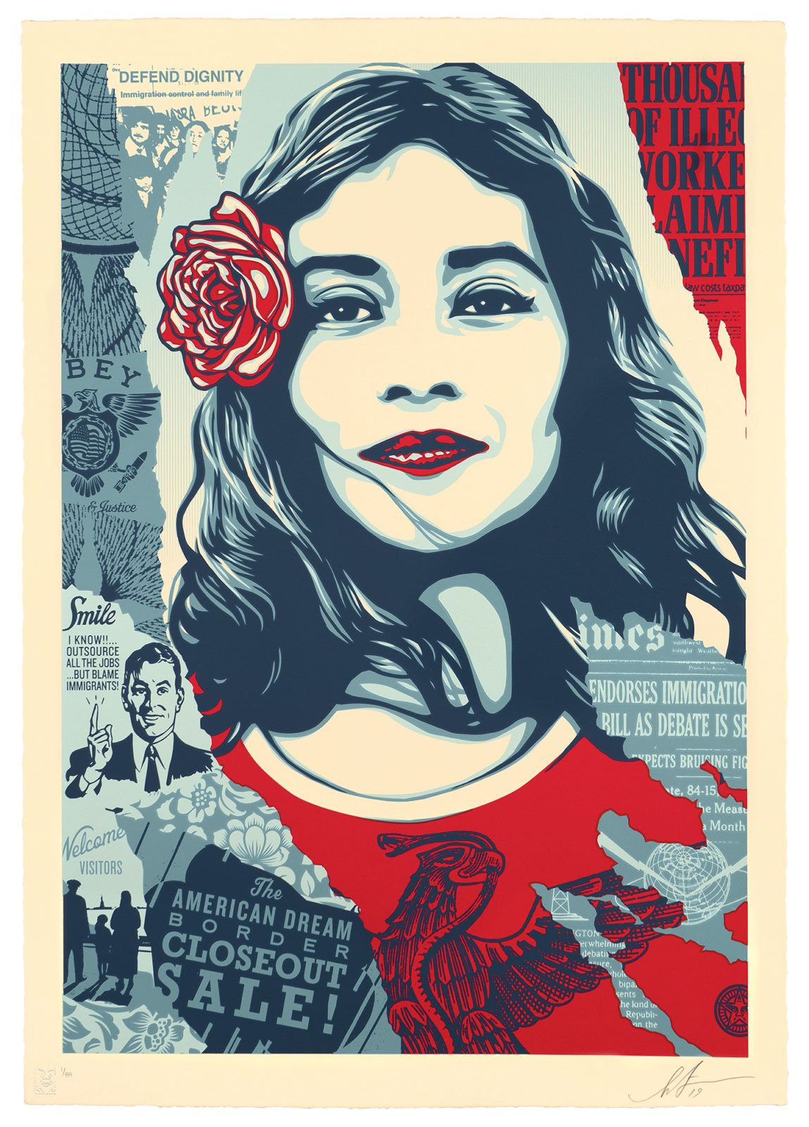 SHEPARD FAIREY poster 24X36 WE THE PEOPLE DEFEND DIGNITY obey art print