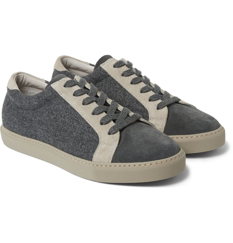 Suede-trimmed sneakers Brunello Cucinelli Popular Online Outlet Manchester Cheap Authentic Outlet Newest Discount Ebay 0LMUXu9