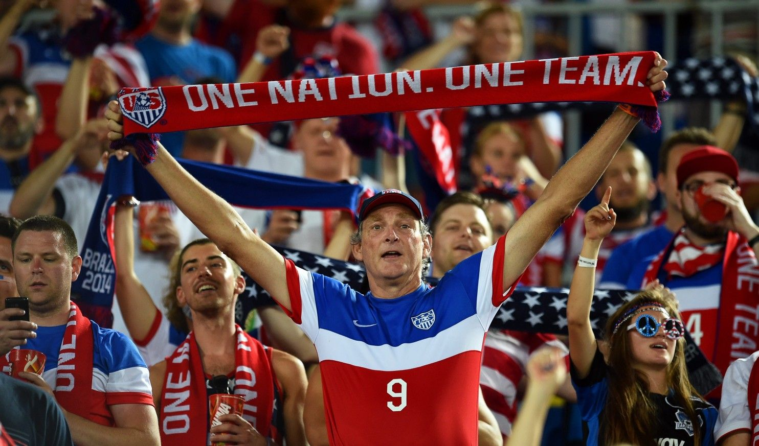 At World Cup U S Soccer Fans Converge By The Thousands Soccer Fans World Cup Sports