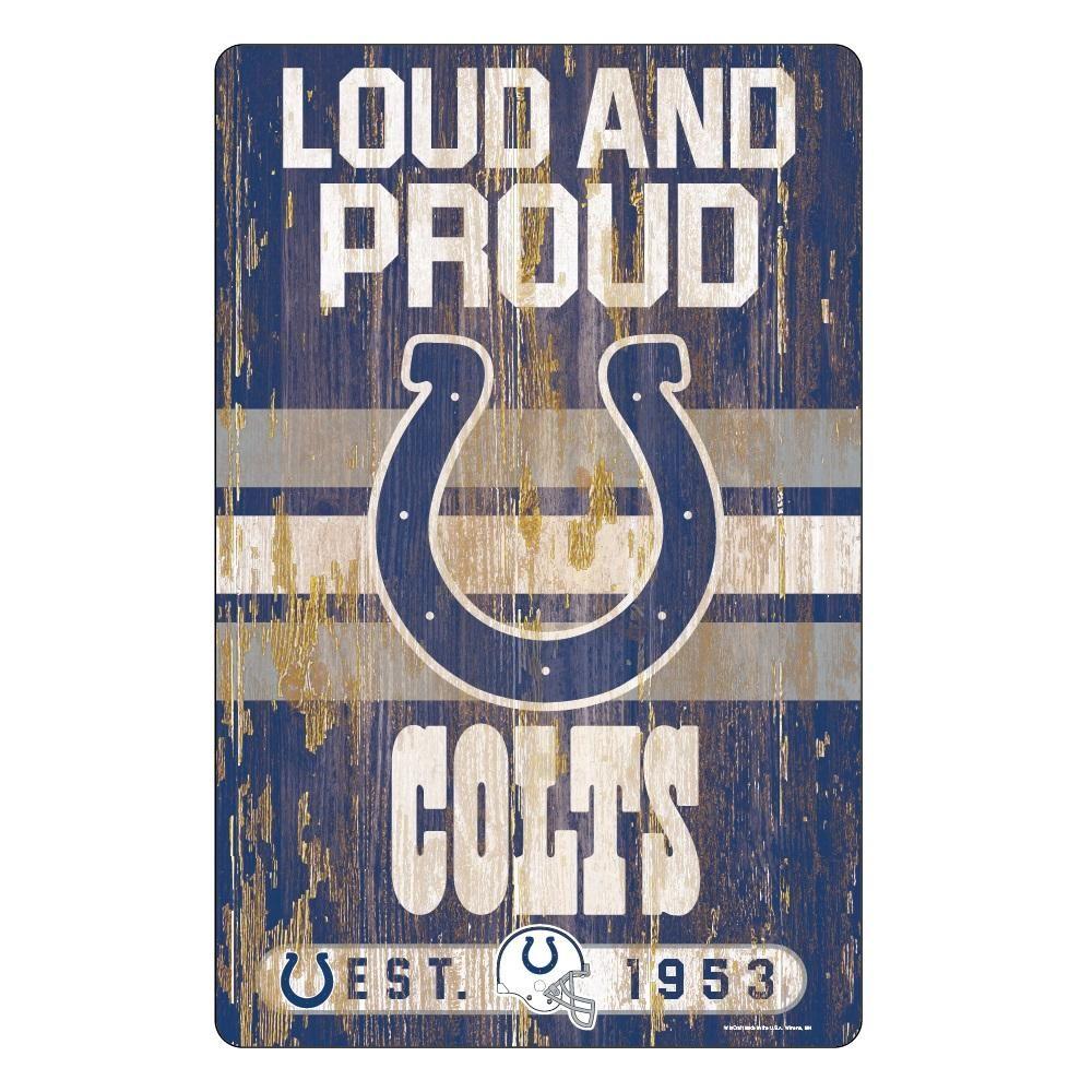 Indianapolis Colts Sign 11x17 Wood Slogan Design Slogan