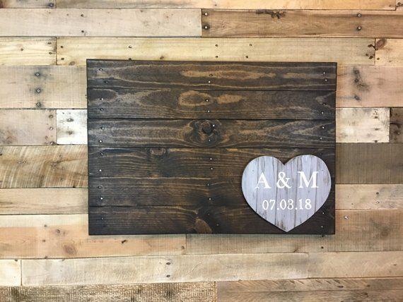 Wedding Guest book Alternative Wood pallet sign- wood ...