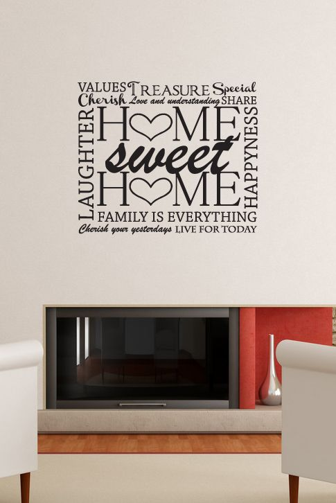 decals that dazzle home sweet home wall decal 20 00 on wall stickers for home id=59501