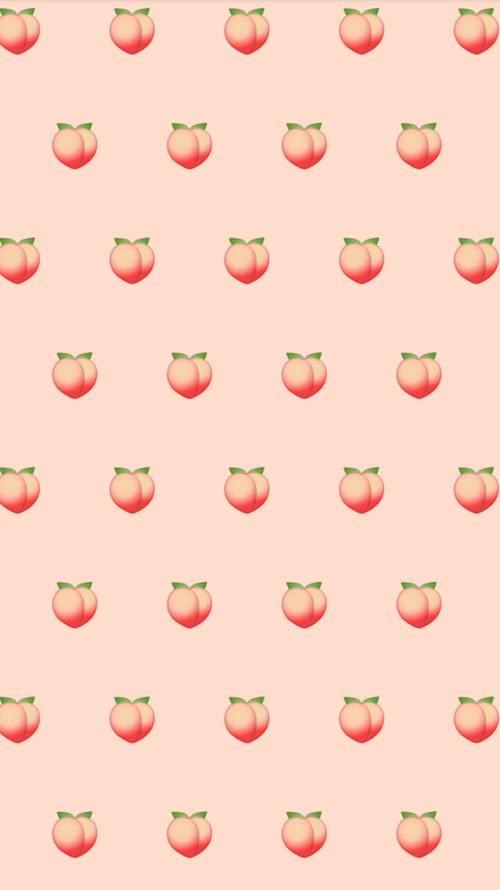 Peaches Discovered By Kivvi On We Heart It Peach Wallpaper Cute Emoji Wallpaper Emoji Wallpaper