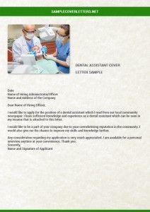 Dental Assistant Cover Letter Sample Dental Assistant Cover Letter