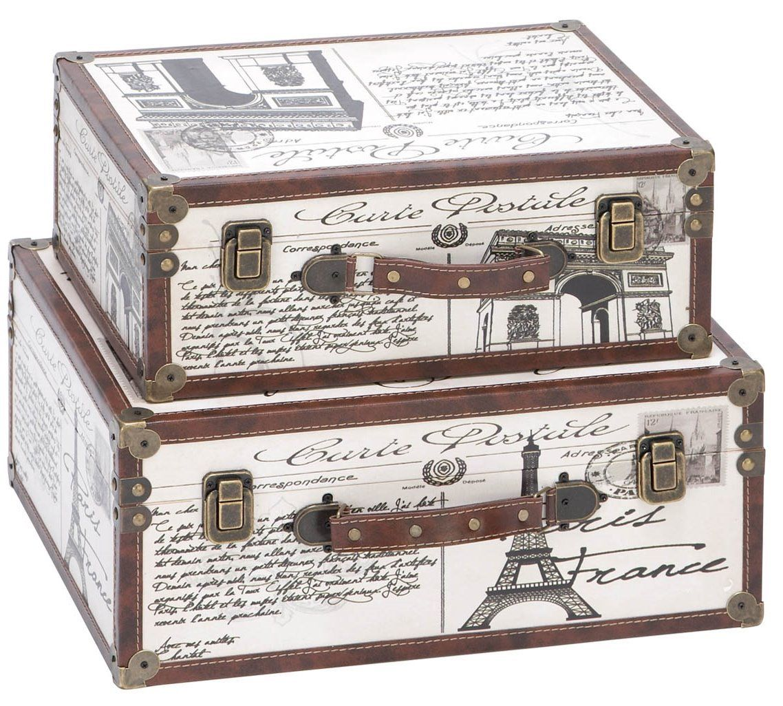 Delightful Paris Decorative Suitcase Trunks