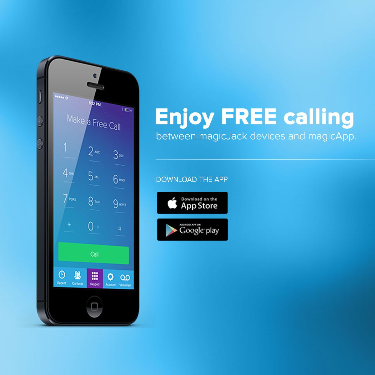 Download magicApp and enjoy FREE calling between magicJack