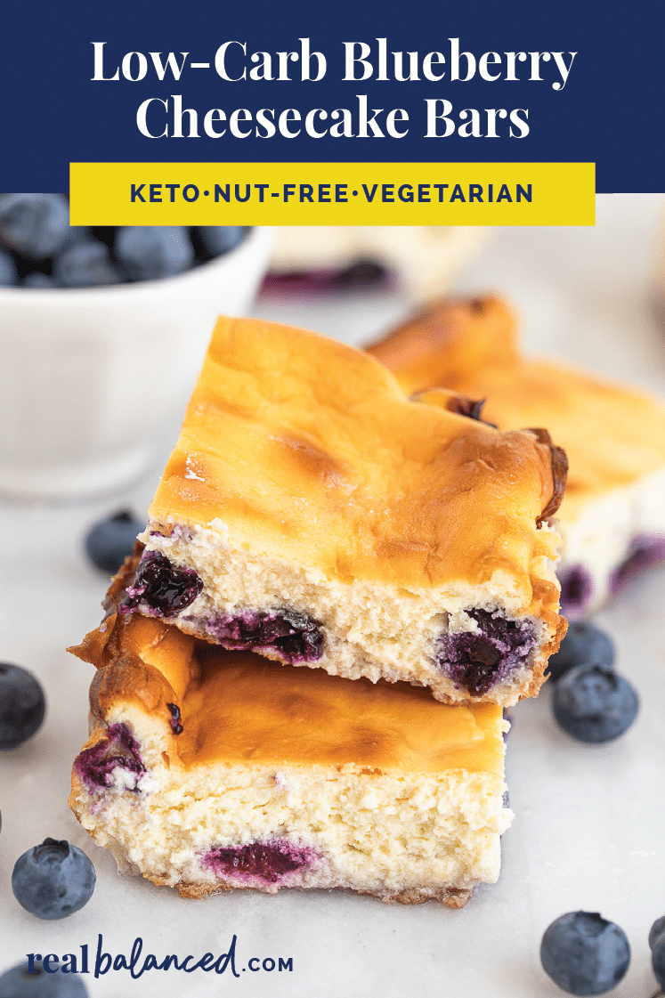 These LowCarb Blueberry Cheesecake Bars are a deliciously tart dessert to satisfy your sweet tooth These bars are lowcarb keto glutenfree grainfree vegetarian refinedsuga...